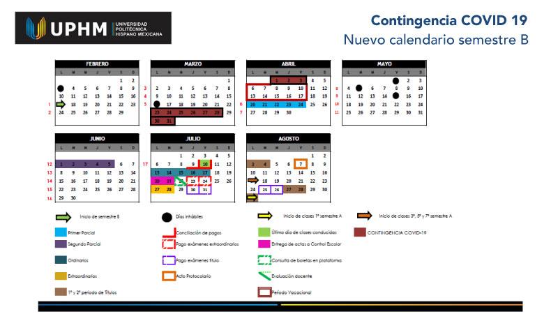 Ajuste Calendario Escolar Semestre B